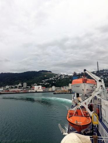 Vue sur Wellington depuis le ferry