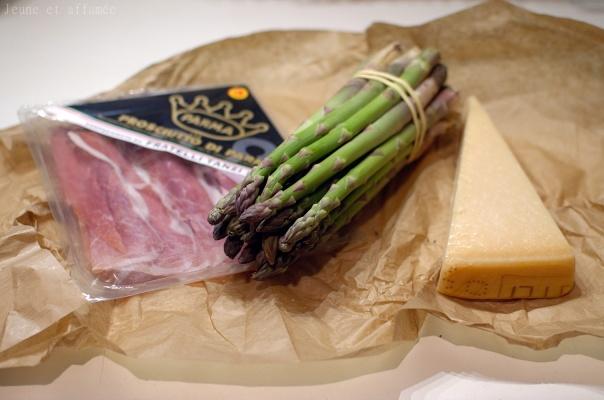 Recette asperges, jambon, parmesan
