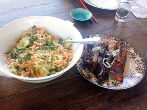 Le camion de ma Pham, travers de porc et salade vietnamienne