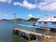 Vue depuis le port de plaisance, Port Chalmers, Nouvelle-Zélande
