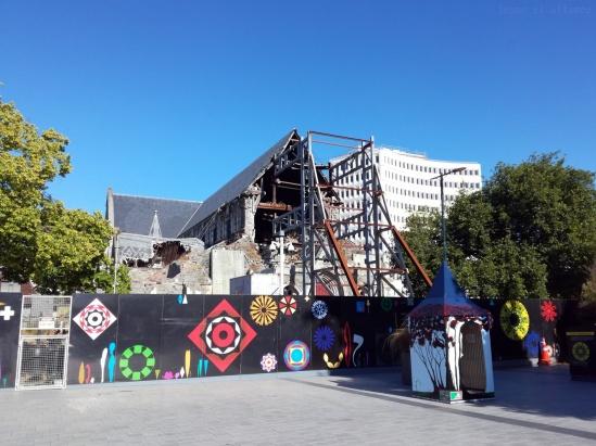 Cathédrale éventrée suite au tremblement de terre à Christchurch