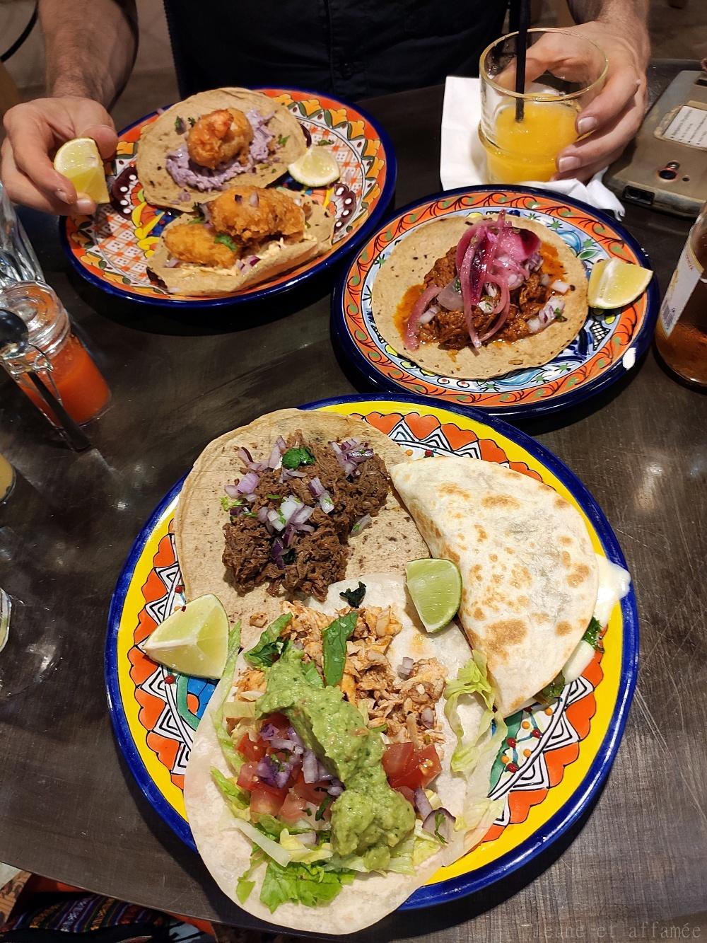 Assiette de tacos chez ACA Pigalle