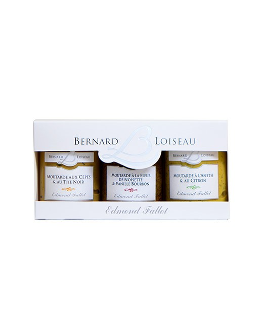 Coffret 3 moutarde Bernard Loiseau, Fallot