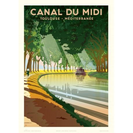 Affiche Le Canal du Midi, Fricker