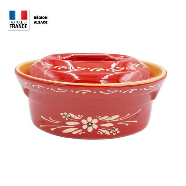Terrine rouge poterie d'Alsace